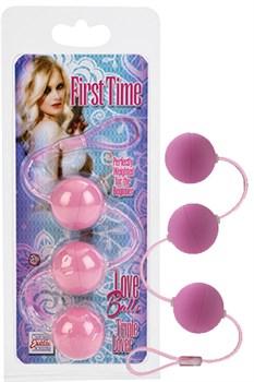 Вагинальные шарики First Time Love Balls Triple Lover - Pink - фото 10061