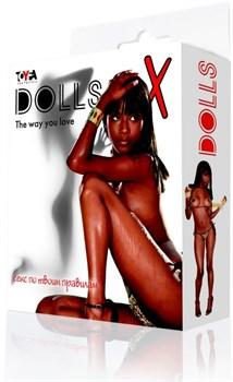 Кукла надувная, негритянка - фото 11217