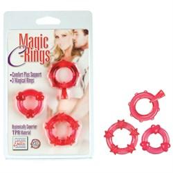 Колечки красные MAGIC C-RINGS - фото 11266