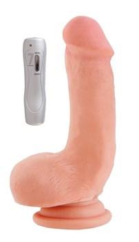 Вибратор на присоске телесный, 7 режимов вибрации, 15 см - фото 11440