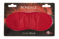 Маска на глаза BONDAGE красная 1030-02Lola - фото 11555