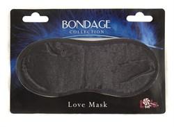Маска на глаза BONDAGE черная 1030-01lola - фото 11556