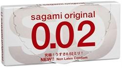 **SAGAMI Original 002 -   2 шт Полиуретановые презервативы 0,02 мм - фото 12337
