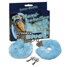 *Наручники с мехом голубые - фото 12347
