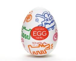 TENGA&Keith Haring Egg Мастурбатор яйцо Street - фото 12393