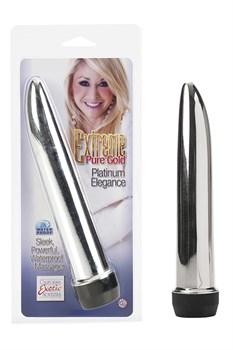 Вибромассажер Extreme Pure Gold™ Platinum Elegance серебрянный - фото 12425