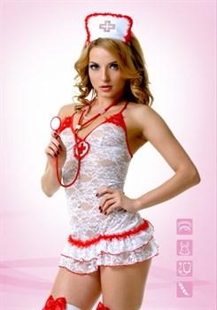 Костюм Медсестры кружевной - фото 12605