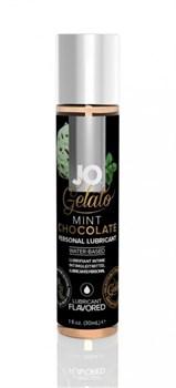 Вкусовой лубрикант JO GELATO MINT CHOCOLATE FLAVORED LUBRICANT 30mL - фото 13678