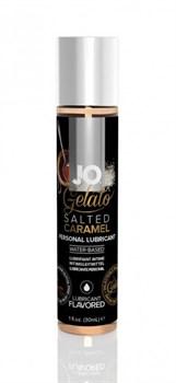 Вкусовой лубрикант на водной основе JO GELATO SALTED CARAMEL FLAVORED LUBRICANT 30mL - фото 13679