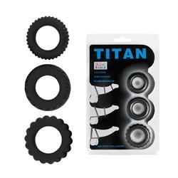Набор из 3 Эрекционных колец Titan BI-210148 - фото 13774