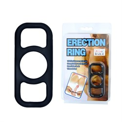 Эрекционное кольцо на пенис черное BI-014361 - фото 13777