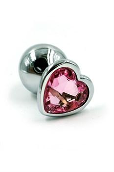 Анальная пробка из аллюминия light pink - фото 14030