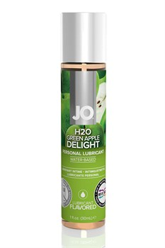 Ароматизированный любрикант на водной основе JO Flavored  Green Apple H2O 30 мл - фото 15645