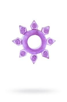 ЭРЕКЦИОННОЕ КОЛЬЦО НА ПЕНИС TOYFA , TPE, фиолетовое - фото 15813