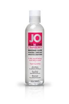 Массажный гель-масло ALL-IN-ONE Massage Oil Cranberry клюквенный 120 мл - фото 6918