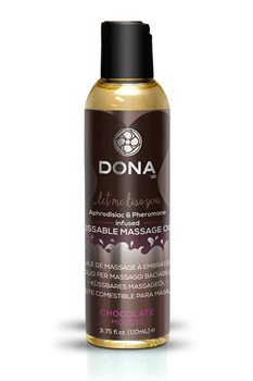 Вкусовое массажное масло  DONA Kissable Massage Oil Chocolate Mousse 125 мл - фото 6964