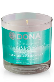 Массажная свеча DONA Scented Massage Candle Naughty Aroma: Sinful Spring 135 г - фото 6976