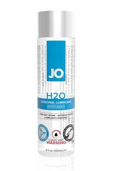 Возбуждающий любрикант на водной основе JO Personal Lubricant H2O Warming, 4 oz (120мл.) - фото 7094