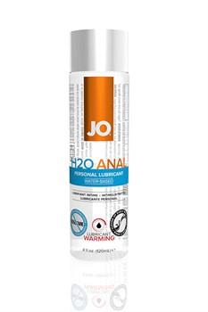 Анальный согревающий любрикант обезболивающий на водной основе JO Anal H2O Warming, (120 мл) - фото 7212