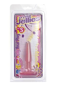 Анальная пробка Cristal Jellies Small розовая - фото 7627