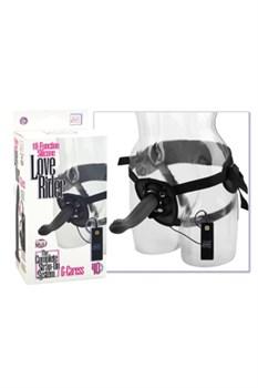 Страпон унисекс Love Rider G-Caress: трусики и фаллоимитатор с вибрацией черный - фото 8393