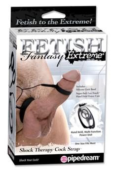 Электро-эректор Shock Therapy Cock Strap черный - фото 8503