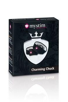 Кольца на пенис и мошонку с электростимуляцией Charming Chuck черные - фото 9775