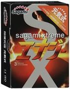 *SAGAMI Energy  3шт. Презервативысо вкусом энергетического напитка, латекс 0,04 мм