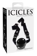 Кляп Icicles № 65 из стекла черный