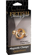 Зажимы на соски Fetish Fantasy Gold Magnetic Clamps на магните золотые